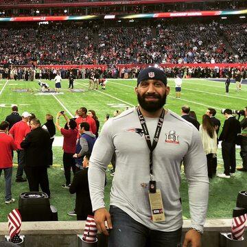 Ahmed Ayyad na meczu Super Bowl