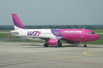 Airbus A320 linii Wizz Air w Katowicach