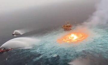 Akcja gaśnicza w Zatoce Meksykańskiej