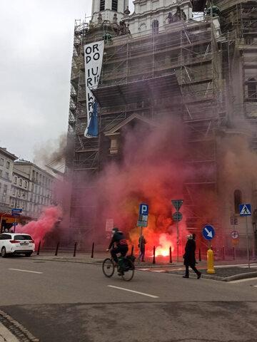 Akcja przy placu Zbawiciela w Warszawie