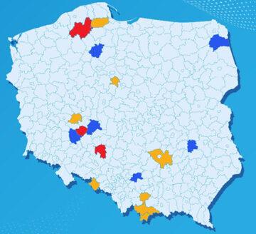Aktualna lista powiatów objętych dodatkowymi obostrzeniami (żółtymi i czerwonymi)