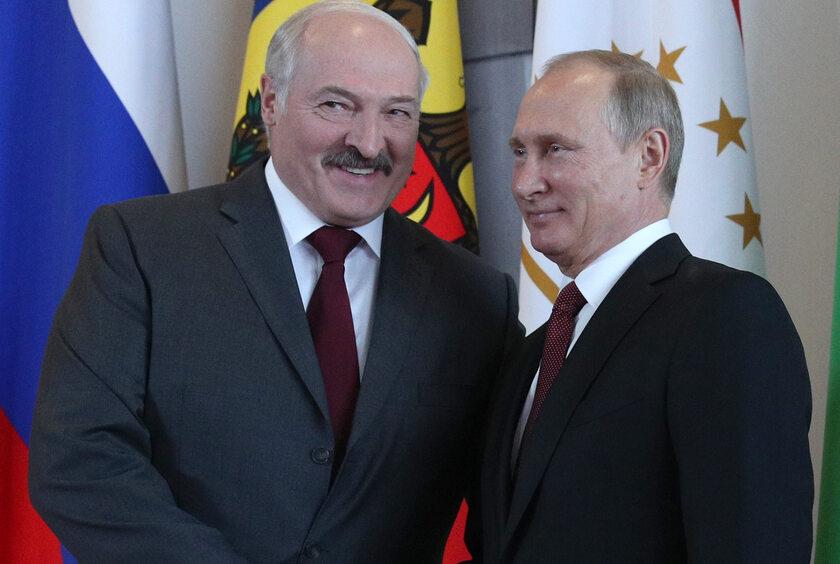Alaksandr Łukaszenka i Władimir Putin w 2017 roku