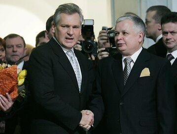 Aleksander Kwaśniewski i Lech Kaczyński