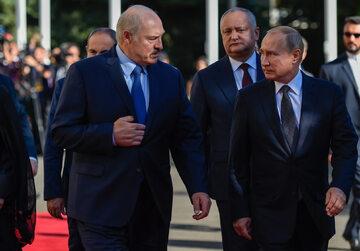 Aleksander Łukaszenka i Władimir Putin