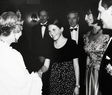 Aleksandra Kwaśniewska u królowej Elżbiety II