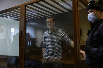 Aleksiej Nawalny podczas procesu