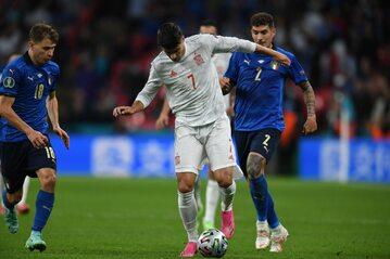 Alvaro Morata w meczu z Włochami
