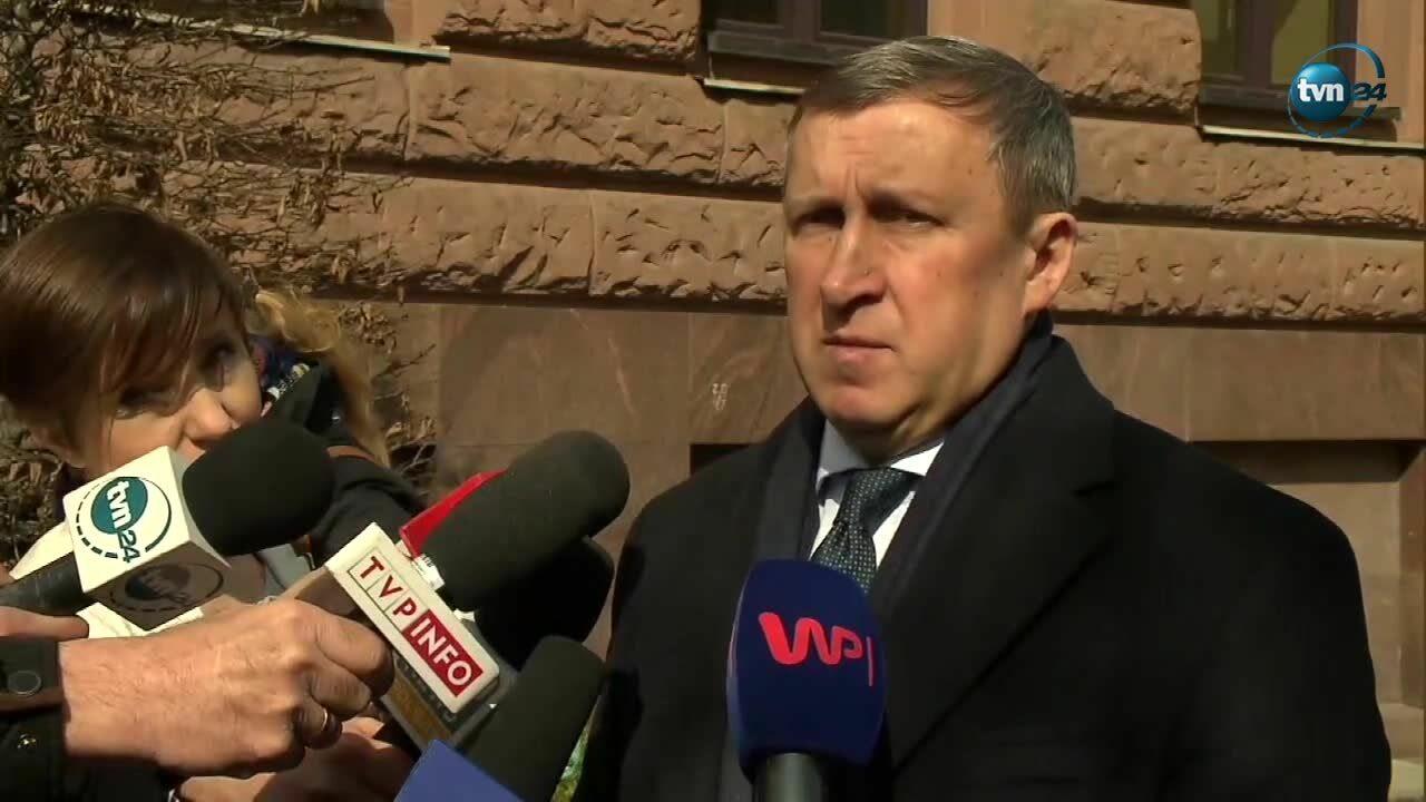 Ambasador Andrij Deszczyca po rozmowie z MSZ
