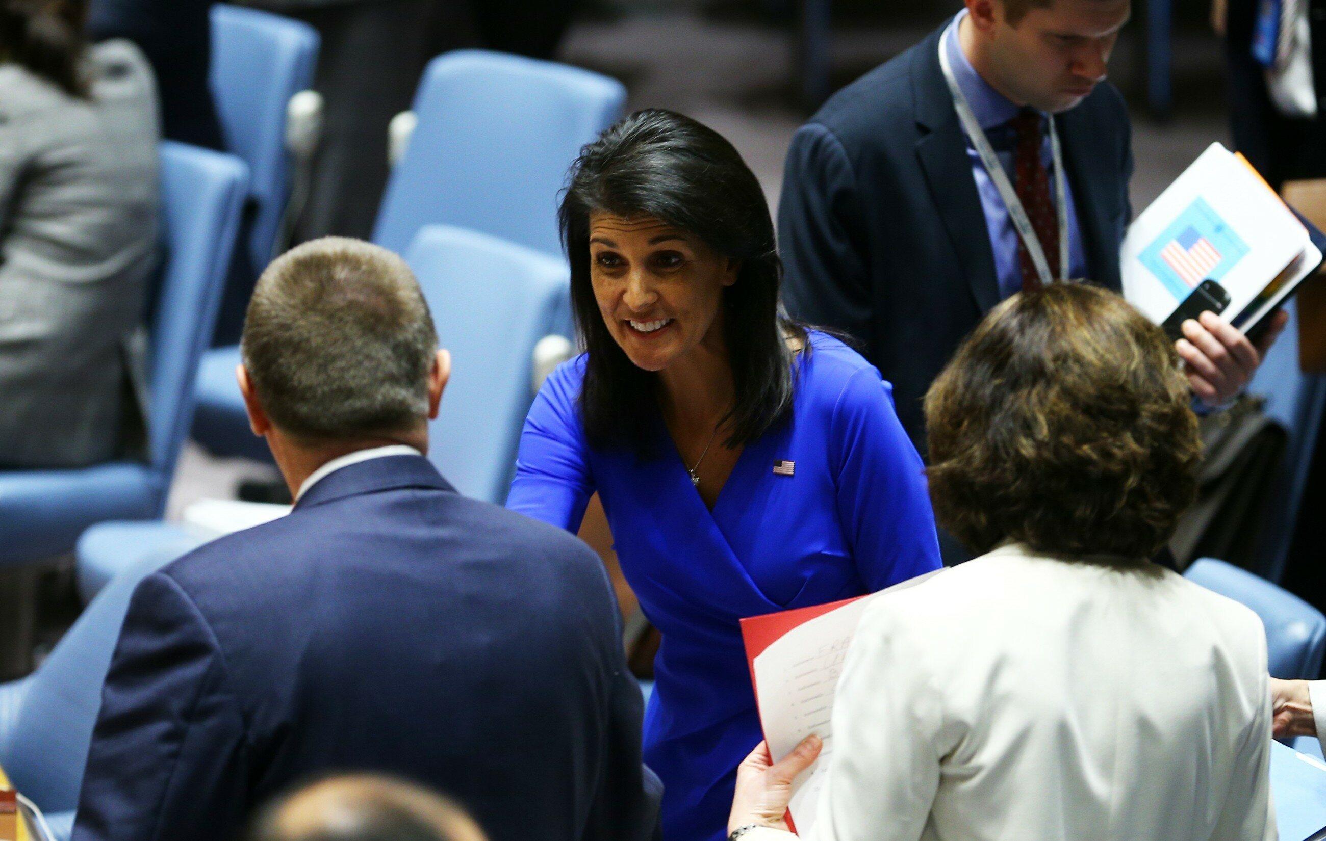 Amerykańska ambasador przy ONZ Nikki Haley