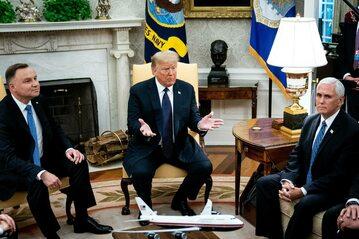 Andrzej Duda, Donald Trump i Mike Pence