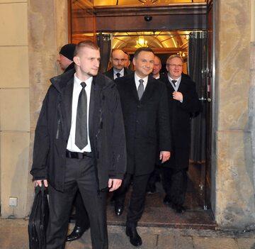 Andrzej Duda, funkcjonariusze BOR