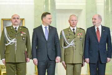 Andrzej Duda, generałowie i Antoni Macierewicz