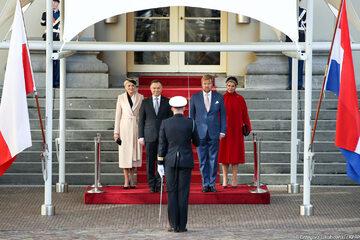 Andrzej Duda i Agata Kornhauser-Duda z wizytą w Holandii