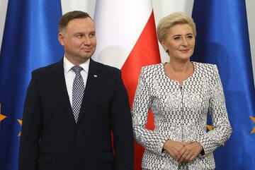 Andrzej Duda i Agata Kornhauser-Duda