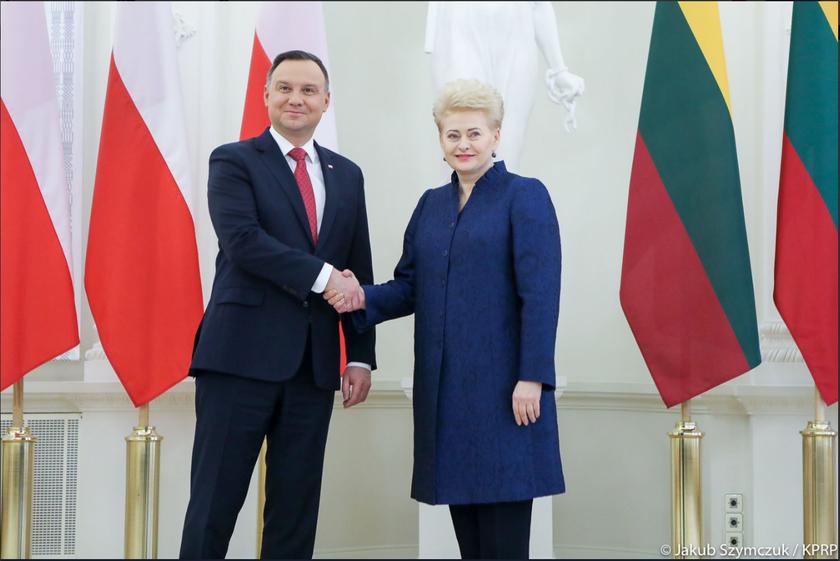 Andrzej Duda i Dalia Grybauskaitė