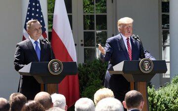 Andrzej Duda i Donald Trump w czerwcu 2019 roku