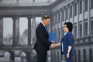Andrzej Duda i Elżbieta Witek