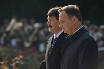 Andrzej Duda i Janos Ader