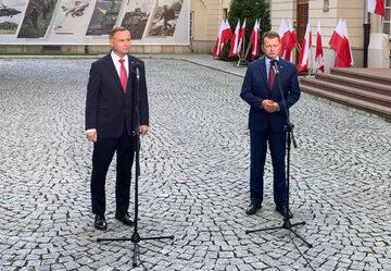Andrzej Duda i Mariusz Błaszczak