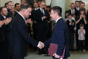 Andrzej Duda i Michał Dworczyk