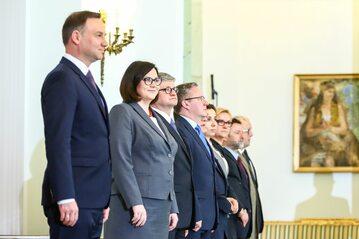 Andrzej Duda i pracownicy Kancelarii Prezydenta