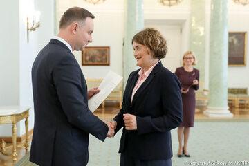 Andrzej Duda i Urszula Doroszewska