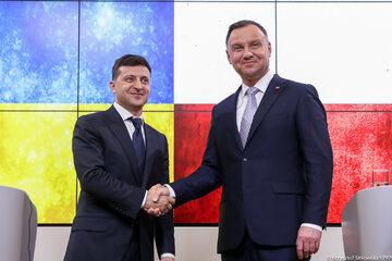 Andrzej Duda i Wołodymyr Zełenski