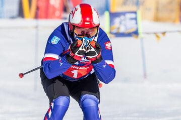 Andrzej Duda na nartach w Zakopanem w 2021 roku