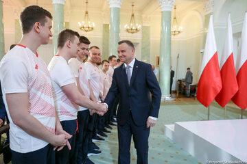 Andrzej Duda na spotkaniu z Narodową Drużyną Esportu