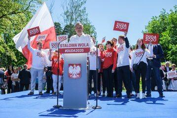Andrzej Duda na wiecu