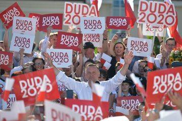 Andrzej Duda podczas kampanii prezydenckiej w 2020 roku