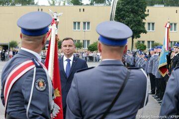 Andrzej Duda podczas Święta Policji