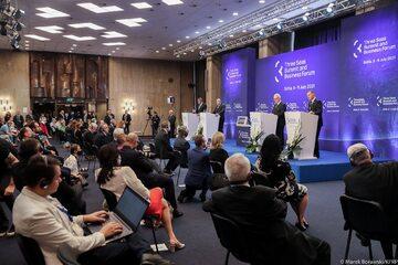 Andrzej Duda podczas szczytu Trójmorza w Bułgarii