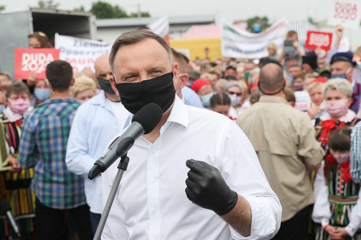 Andrzej Duda podczas wizyty w Opocznie