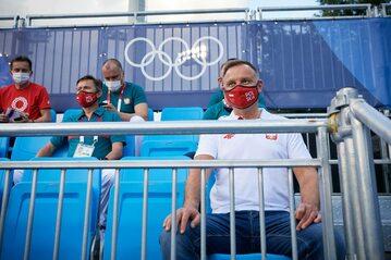 Andrzej Duda w IO Tokio 2020