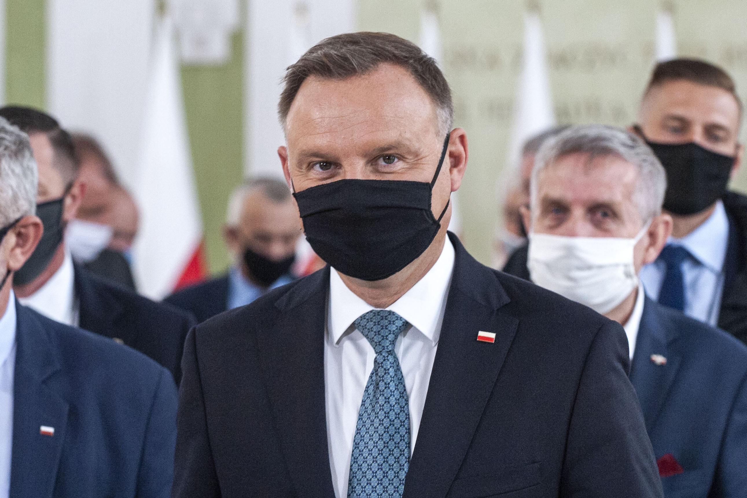Andrzej Duda w maseczce