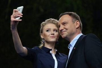 Andrzej Duda z córką Kingdą na tweetupie w 2015 roku