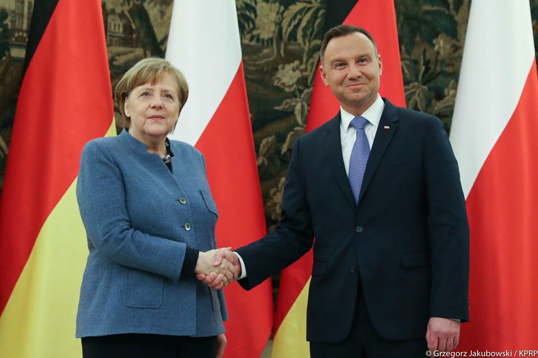Angela Merkel i Andrzej Duda
