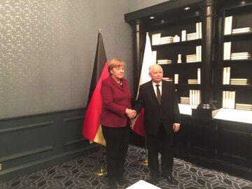 Angela Merkel, Jarosław Kaczyński