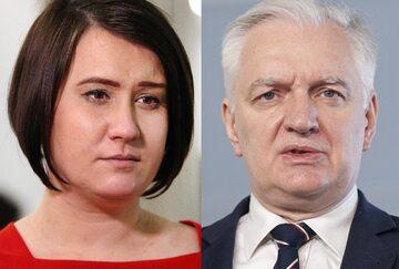 Anna Maria Siarkowska i Jarosław Gowin