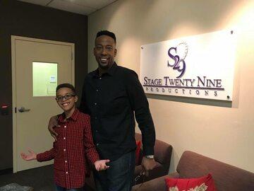 Anthony Milan Ros z 11-letnim synem Nigelem