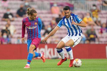 Antoine Griezmann w meczu z Realem Sociedad