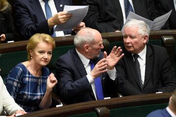 Antoni Macierewicz w rozmowie z Jarosławem Kaczyńskim