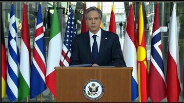 Antony Blinken w kwaterze NATO
