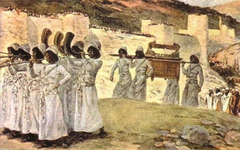 Arka przed murami Jerycha, obraz Jacques'a J. Tissota