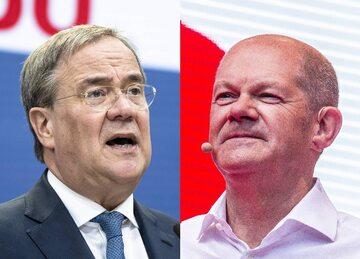 Armin Laschet (CDU) i Olaf Scholz (SPD), główni kandydaci na nowego kanclerza Niemiec