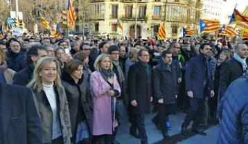 Artur Mas oraz zwolennicy niepodległej Katalonii