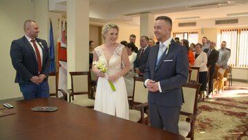 Asia i Adam podczas swojego ślubu