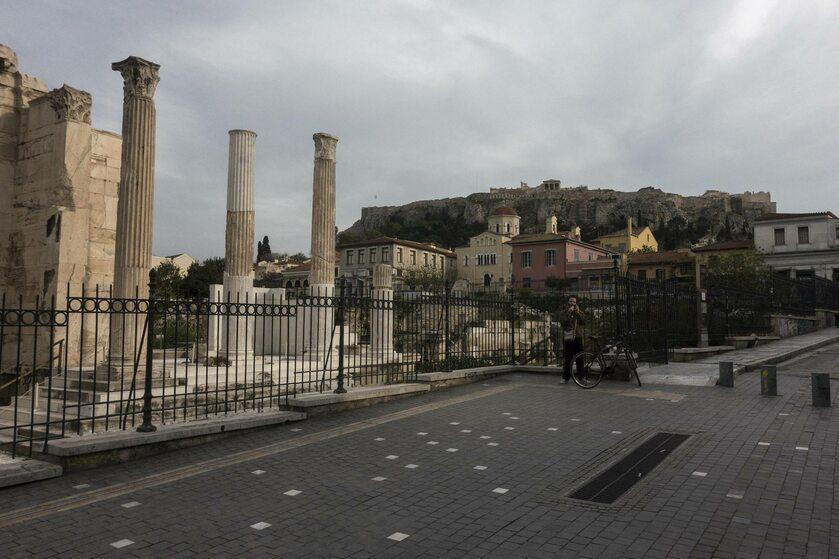 Ateny w trakcie epidemii koronawirusa