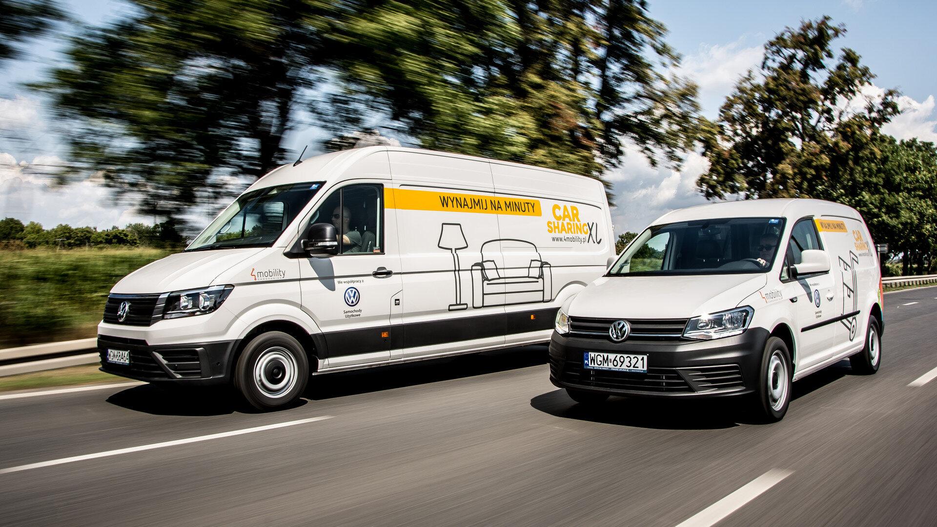 Auta dostawcze na minuty w car-sharingu